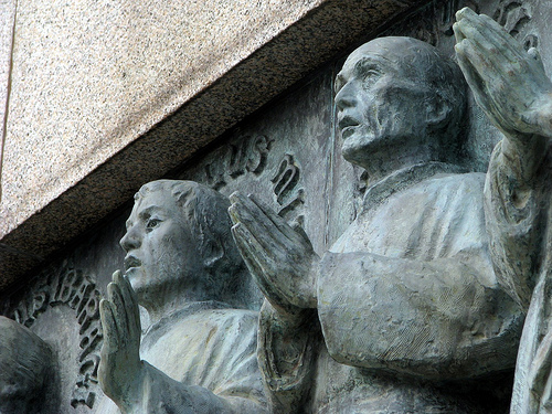 Statues of the martyrs of Japan.